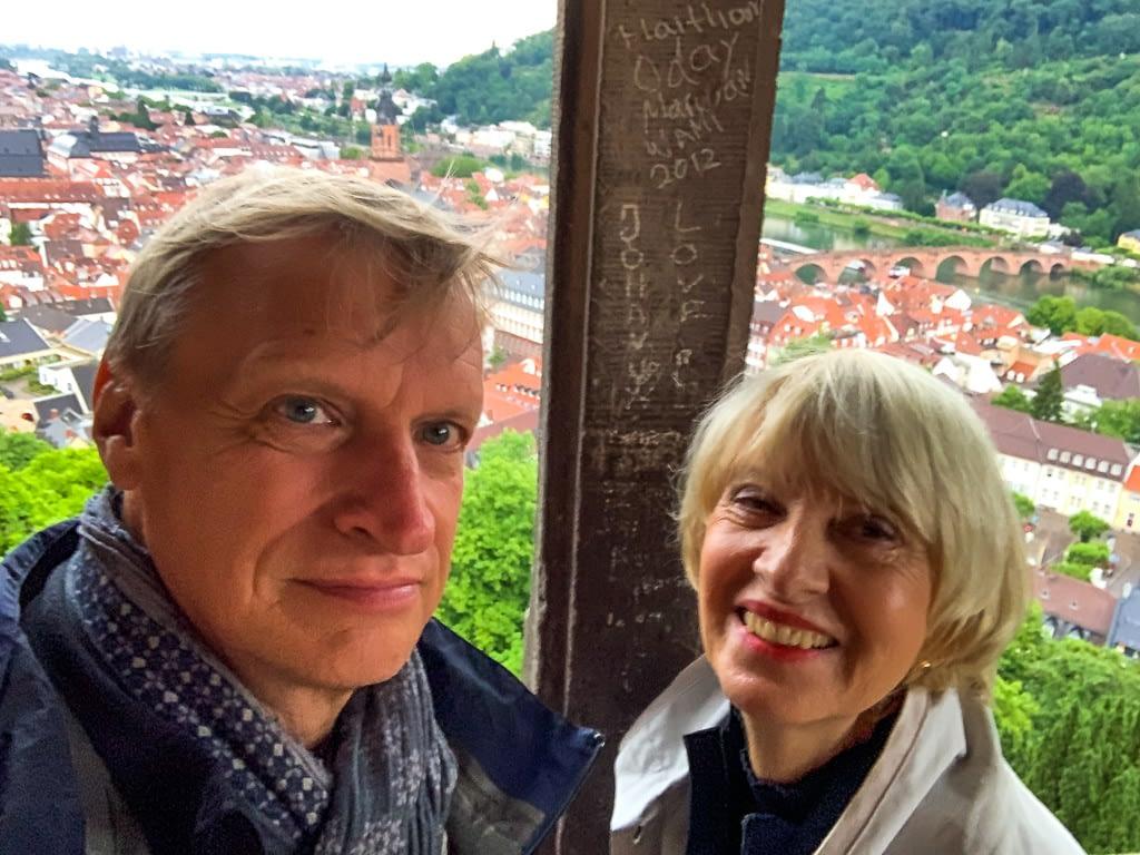 Wunderpaar auf dem Heidelberger Schloss