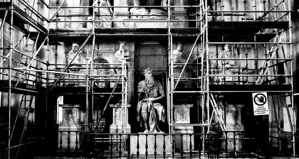 Der Moses von Michelangelo in Rom